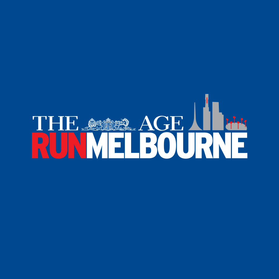 Run Melbourne - Reverse Logo